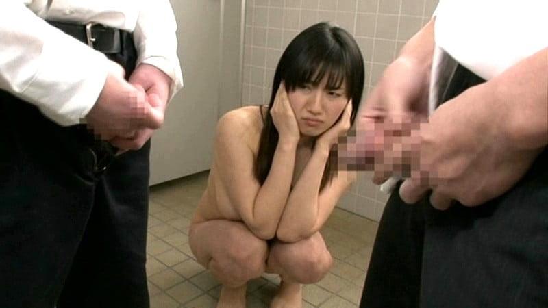 男子トイレで全裸でちんちん鑑賞する透明人間になったJK